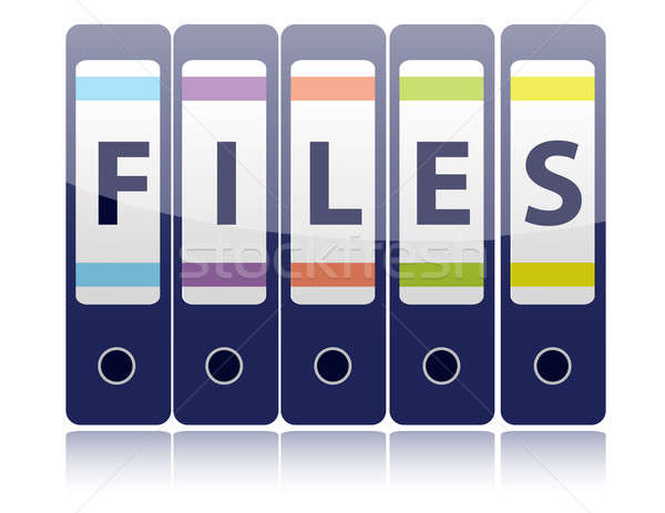пять синий кольца правописание файла Сток-фото © alexmillos