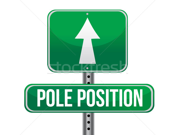 Pole position road sign illustration design Stock photo © alexmillos