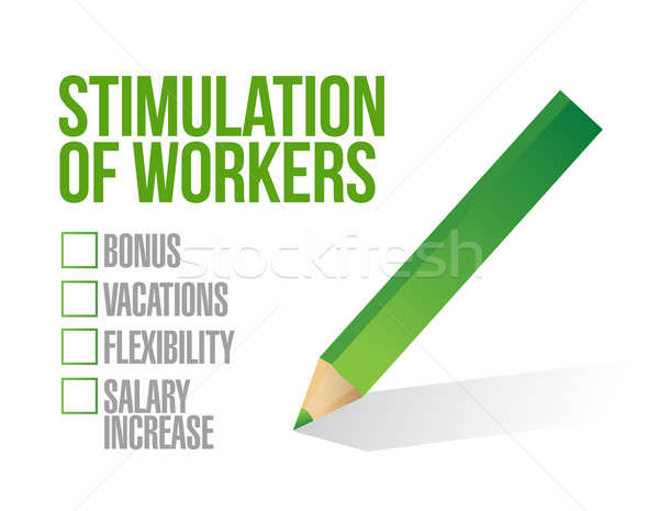 stimulus for workers checkbox list illustration design graphic Stock photo © alexmillos