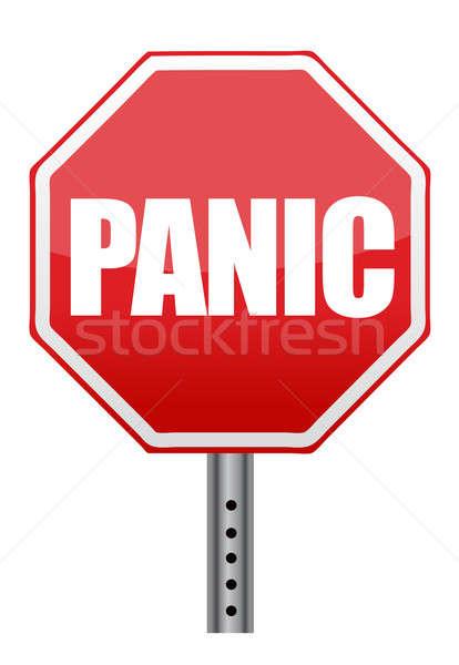 Panique stop illustration design blanche santé Photo stock © alexmillos