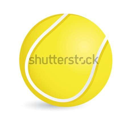 Tennisbal illustratie ontwerp witte sport achtergrond Stockfoto © alexmillos