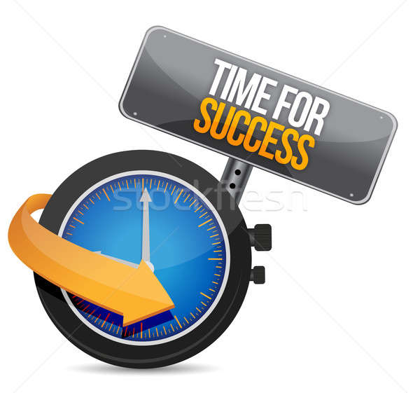 Time for Success illustration design over a white background Stock photo © alexmillos