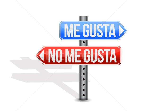 Gibi sevmemek İspanyolca imzalamak örnek dizayn Stok fotoğraf © alexmillos