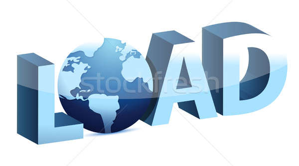 Load globe illustration design over a white background design Stock photo © alexmillos