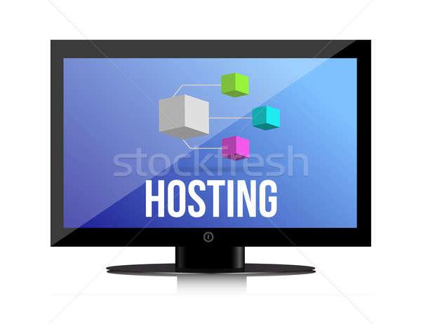 Hosting rete illustrazione design bianco tecnologia Foto d'archivio © alexmillos