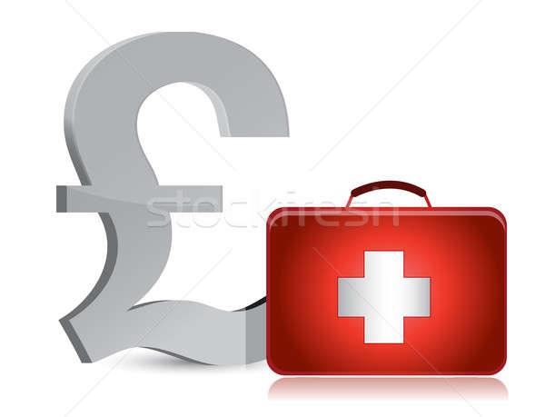 Pound tıbbi örnek dizayn beyaz Stok fotoğraf © alexmillos