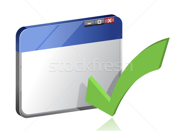 Navegador ventana bar éxito software botón Foto stock © alexmillos