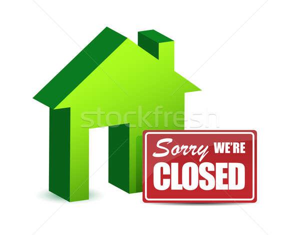 Negocios cerrado diseno signo verde Foto stock © alexmillos