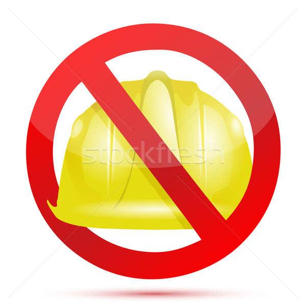 no constructions allow sign illustration design over white Stock photo © alexmillos