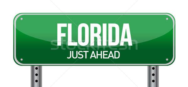 Green Florida, USA street sign Stock photo © alexmillos