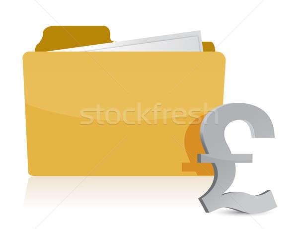 Libra signo carpeta negocios oficina papel Foto stock © alexmillos
