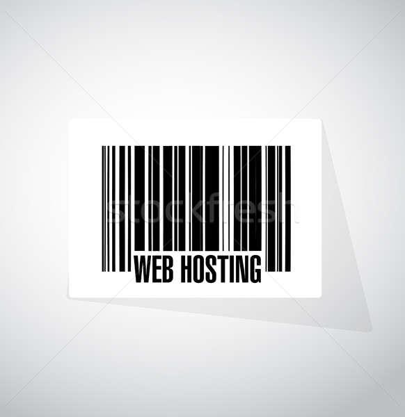 веб хостинг штрих знак иллюстрация графического дизайна Сток-фото © alexmillos
