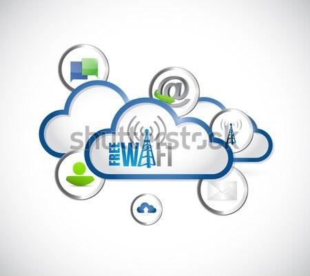 Gezondheidszorg netwerk illustratie ontwerp geïsoleerd witte Stockfoto © alexmillos