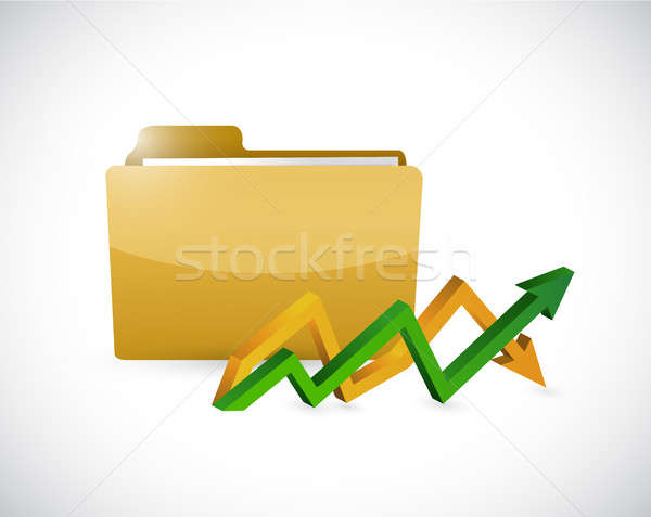 business documents and up and down arrow graph Stock photo © alexmillos
