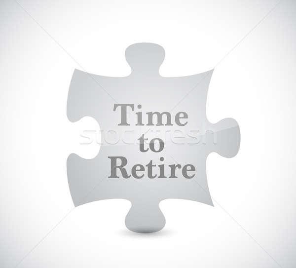 Foto d'archivio: Tempo · andare · in · pensione · puzzle · illustrazione · design · grafica