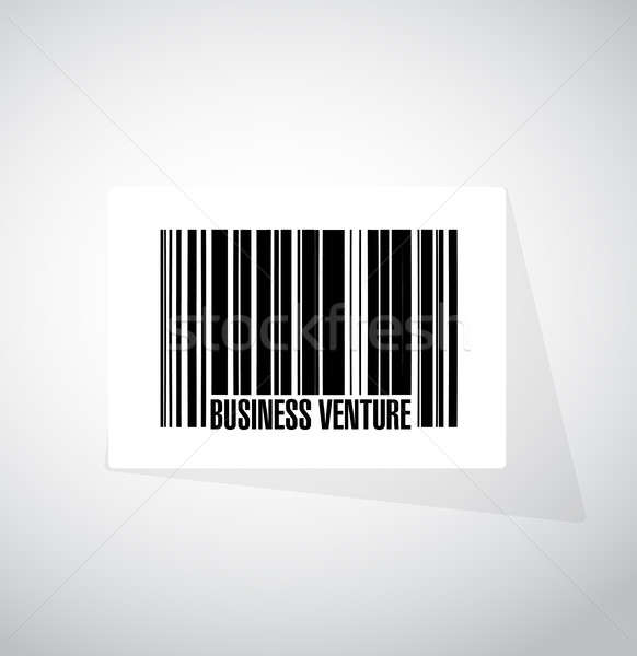business venture barcode sign concept Stock photo © alexmillos