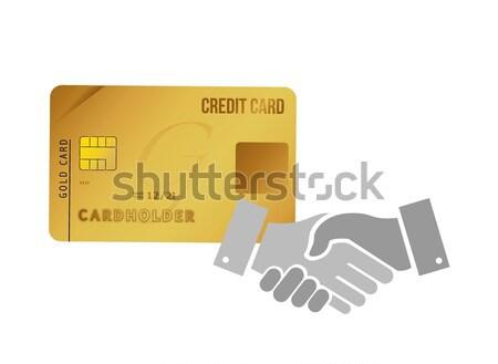 Business podium handdruk illustratie ontwerp geïsoleerd Stockfoto © alexmillos