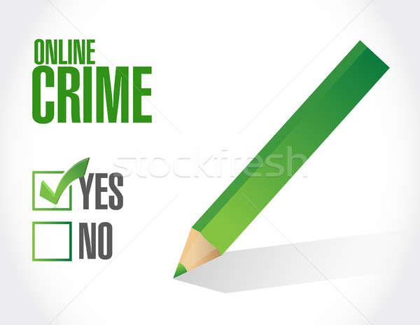 online crime concept sign illustration design Stock photo © alexmillos