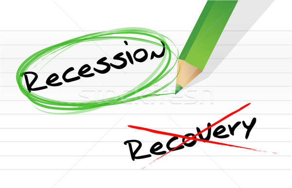 Stock photo: recession versus recovery selection