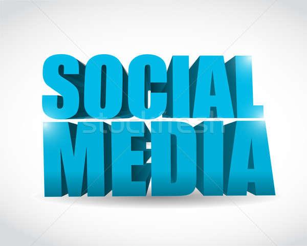 Social media tekst illustratie ontwerp witte vrienden Stockfoto © alexmillos