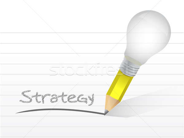 Strateji ampul kalem örnek dizayn beyaz Stok fotoğraf © alexmillos