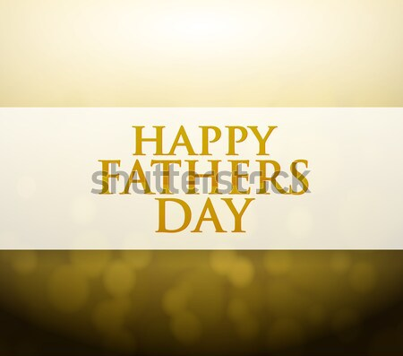 Happy fathers day illustration card design Stock photo © alexmillos