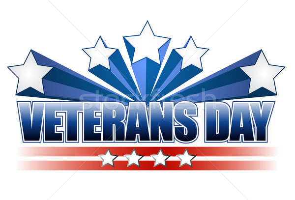 veterans day background  Stock photo © alexmillos