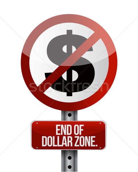 Route panneau de signalisation dollar affaires argent Photo stock © alexmillos