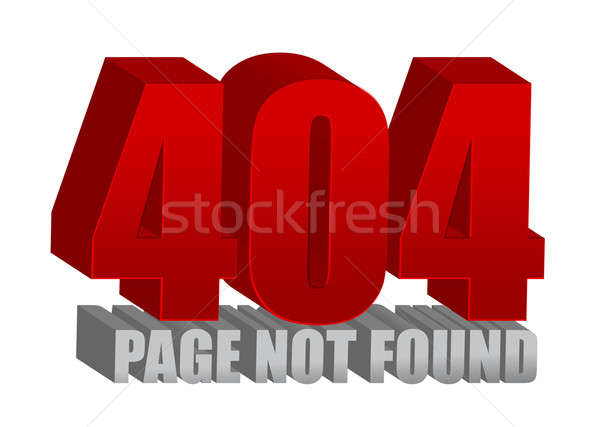 Red 404 error illustration design over a white background Stock photo © alexmillos