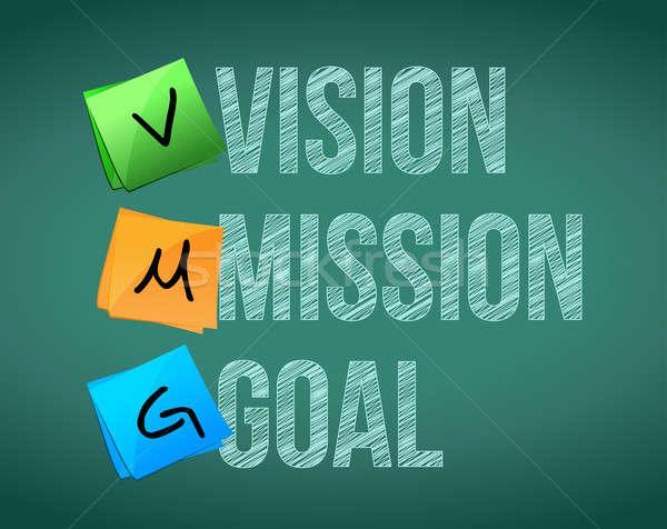 Vision mission objectif illustration design blanche Photo stock © alexmillos