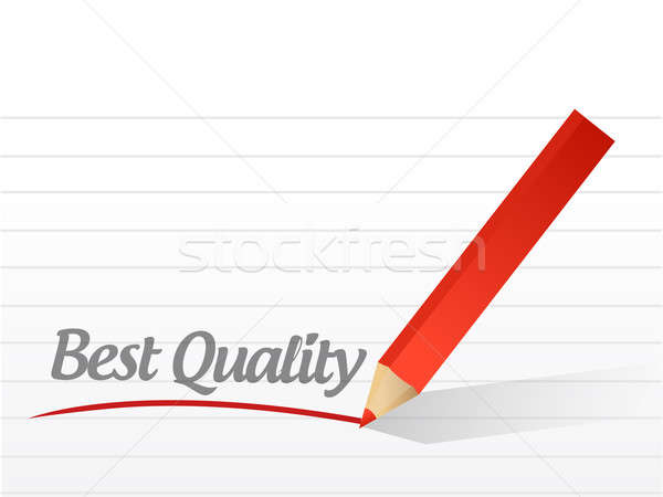 Best quality written on a white paper illustration  Stock photo © alexmillos
