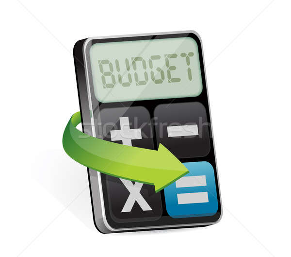 Calculator with word budget on display Stock photo © alexmillos