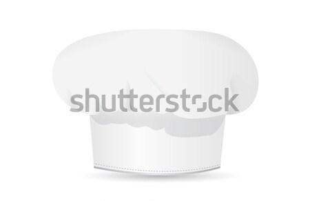 Szakács sapka illusztráció terv étterem felirat szakács Stock fotó © alexmillos