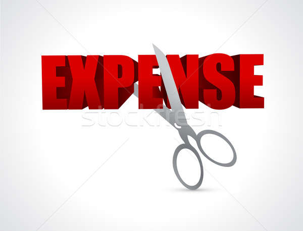 Cutting expenses. illustration design  Stock photo © alexmillos