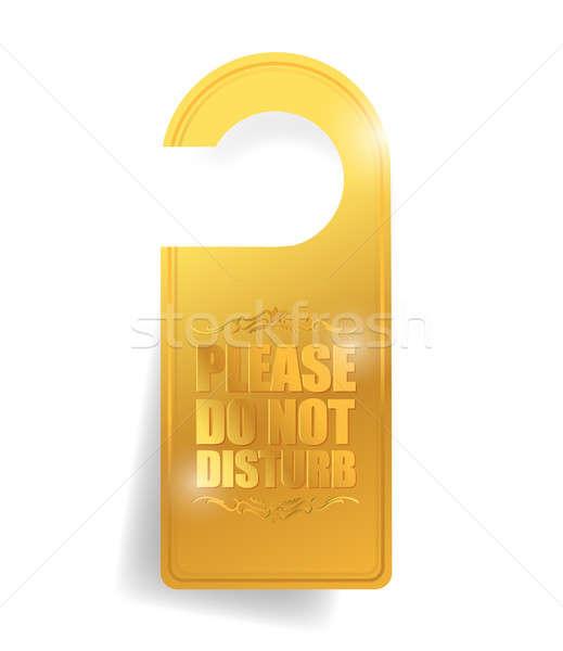 Stockfoto: Niet · deur · hanger · illustratie · teken · Rood