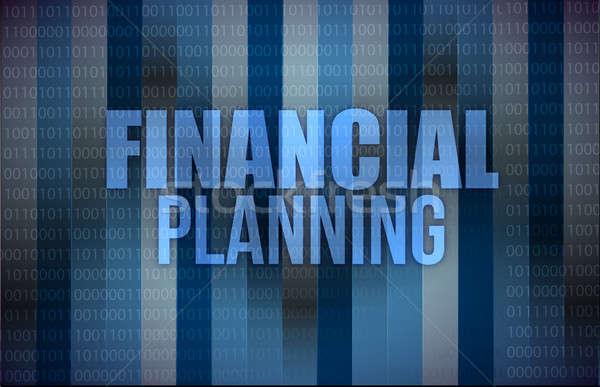 üzlet szavak pénzügyi tervezés illusztráció terv technológia Stock fotó © alexmillos