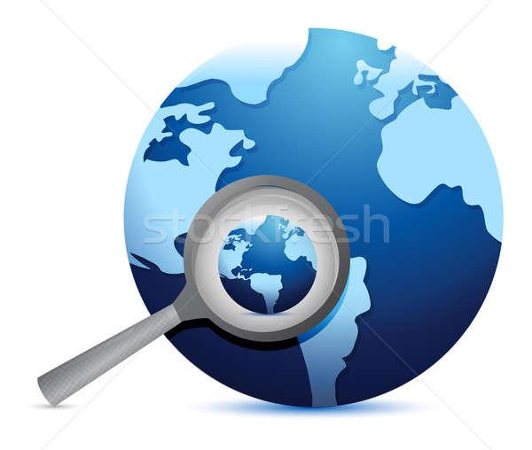 Global search concept illustration design  Stock photo © alexmillos