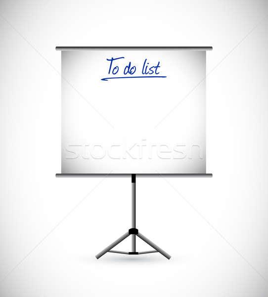 To do list presentatie illustratie ontwerp kantoor onderwijs Stockfoto © alexmillos