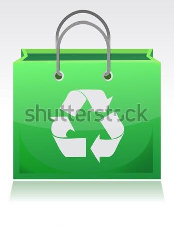 Recycle сумку мусор иллюстрация дизайна белый Сток-фото © alexmillos