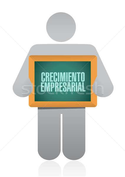 бизнеса роста Аватара знак испанский иллюстрация Сток-фото © alexmillos