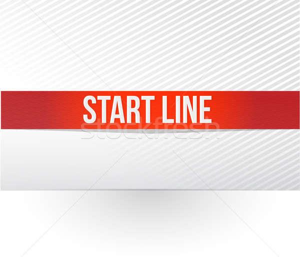 Başlatmak hat bürokrasi örnek dizayn beyaz Stok fotoğraf © alexmillos