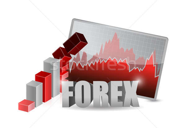 Forex affaires relevant illustration design blanche Photo stock © alexmillos