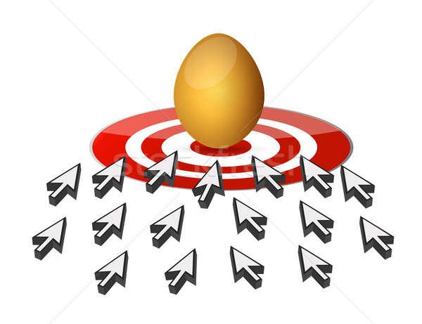 Streszczenie złote jajka polowanie malarstwo sukces Zdjęcia stock © alexmillos