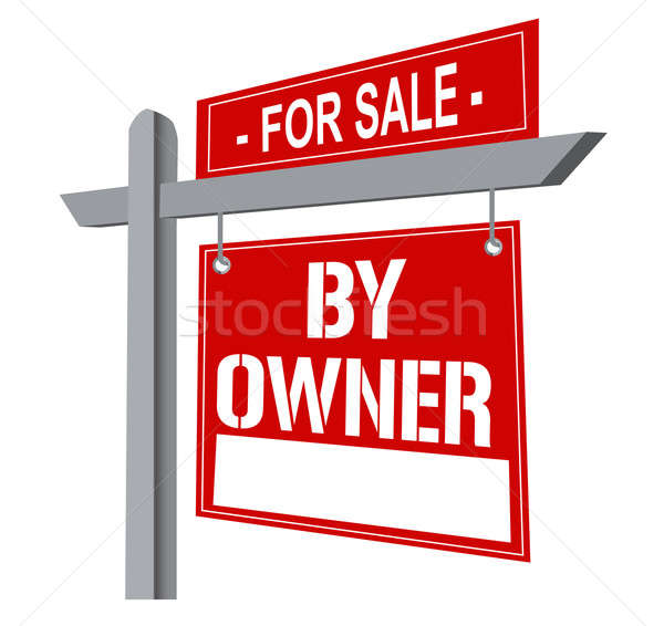 For sale by owner sign. Stock photo © alexmillos