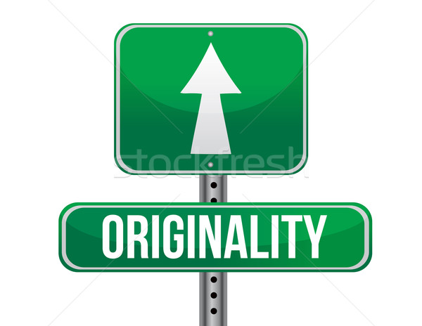 originality road sign illustration design over a white backgroun Stock photo © alexmillos