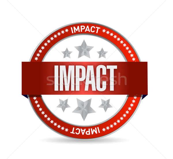 impact seal illustration design over a white background Stock photo © alexmillos