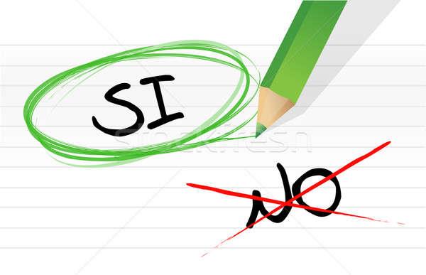 Tak nie hiszpanski ilustracja projektu notatnika Zdjęcia stock © alexmillos