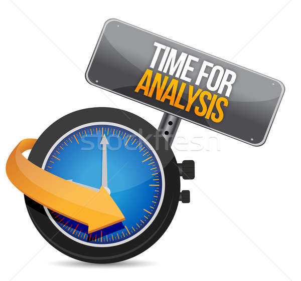 time for analysis illustration design over a white background Stock photo © alexmillos