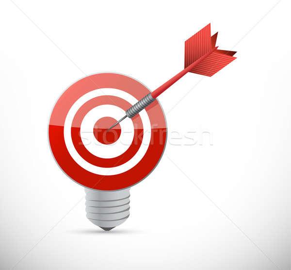 target idea light bulb illustration design over a white backgrou Stock photo © alexmillos