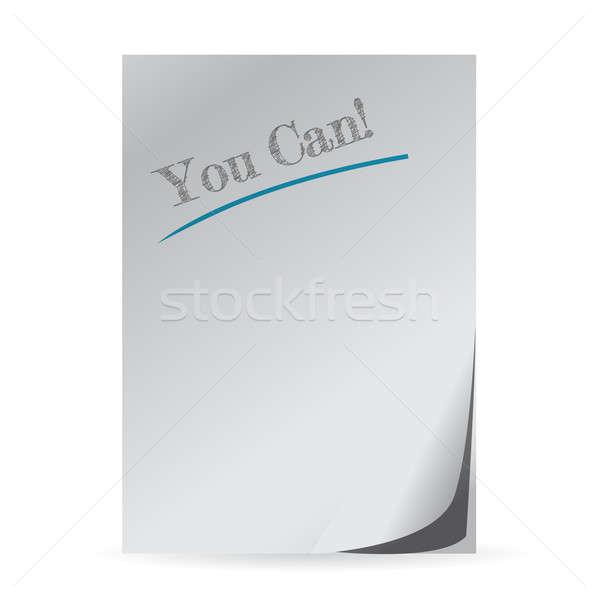 Kan positief mentoring geschreven papier illustratie Stockfoto © alexmillos